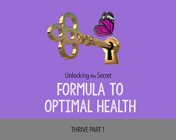 Formula to optimal health course